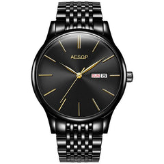 AESOP Simple Men Watch Men Automatic Mechanical Sapphire Crystal Thin Wrist Wristwatch Black Male Clock Relogio Masculino Hot 46
