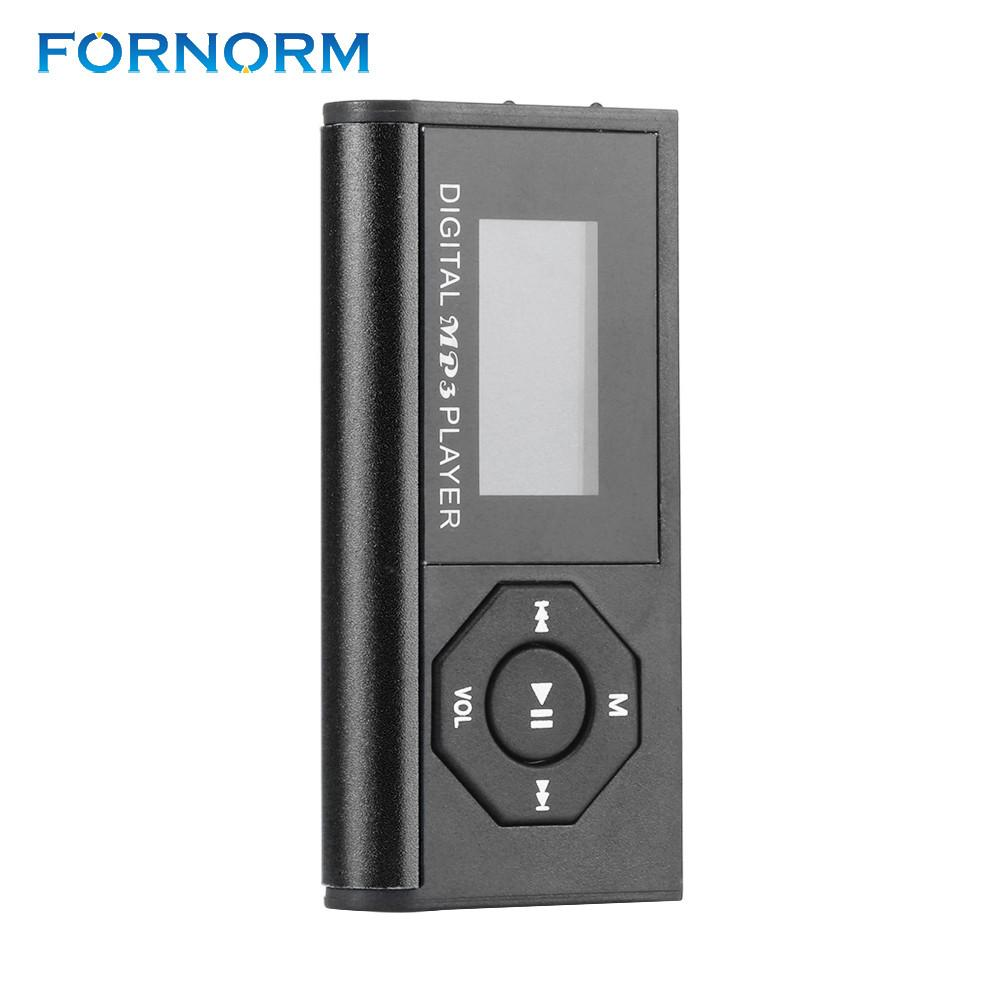 FORNORM Mini USB Reproductor Mp3 Music Media Player LCD Screen Support 16GB Micro SD TF Card Digitial Music Mp3 Player