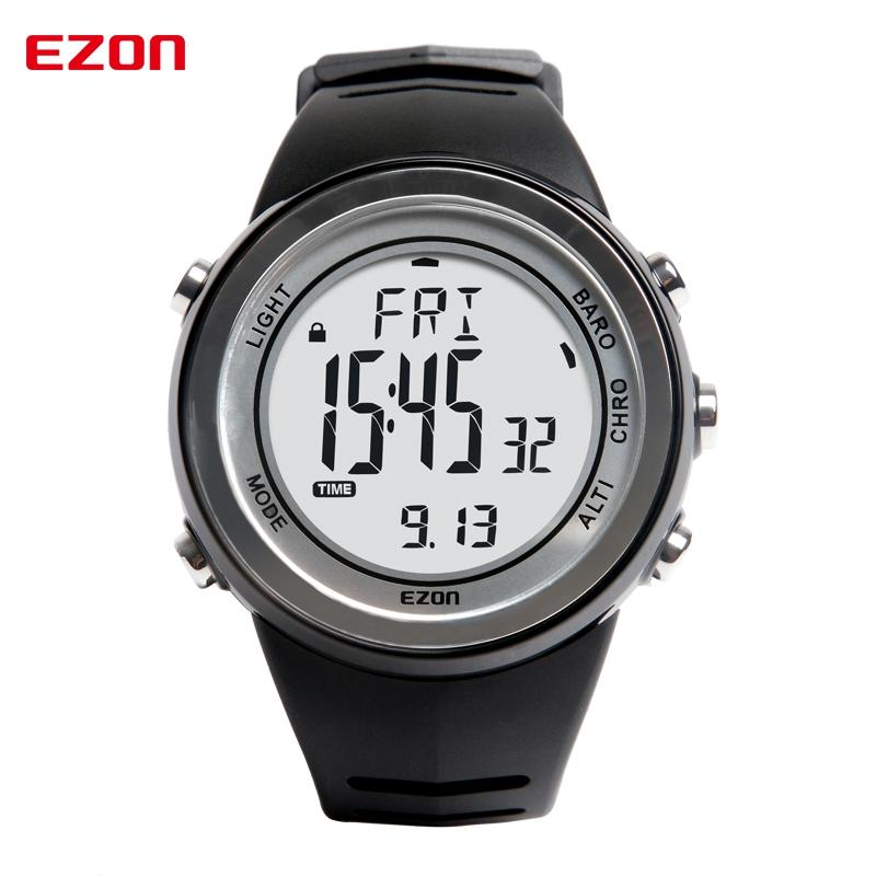 EZON Altimeter Barometer Thermometer Weather Forecast Outdoor Men Digital Watches Sports Climbing Hiking Wristwatch Montre Homme