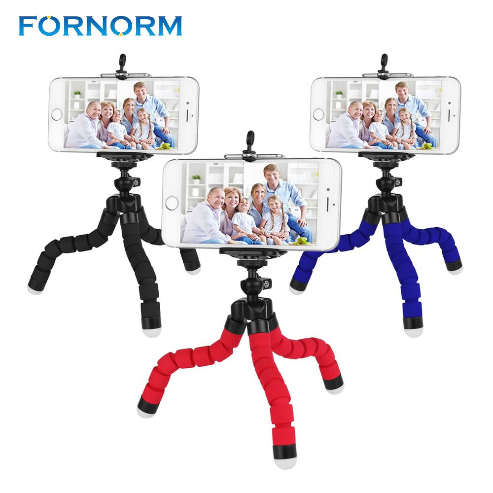 FORNORM Mini Flexible Octopus Tripod for iPhone Samsung Xiaomi Huawei Mobile Phone Smartphone Tripod for Gopro Camera DSLR Mount