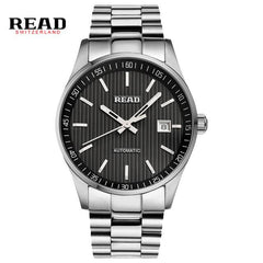 READ Men's business automatic mechanical Leather Strap watch Luxury Brand Fashion Waterproof  Wristwatch R8009