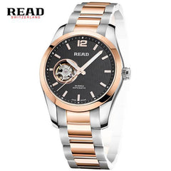 Mens Watches Automatic Mechanical Watch Skeleton Clock Leather Casual business wristwatch relojes hombre top brand READ luxury