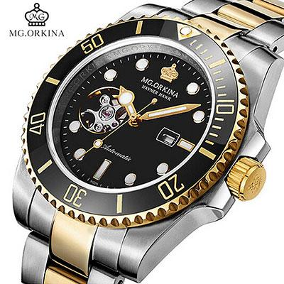 MG.ORKINA Automatic Self Winding Mechanical Watches Waterproof 30M Stainless Steel 316L 40MM Case Auto Date Men Luminous Watch