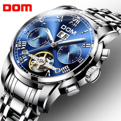Mechanical Watches Sport DOM Watch Men  Waterproof Clock Mens Brand Luxury Fashion Wristwatch Relogio Masculino M-75