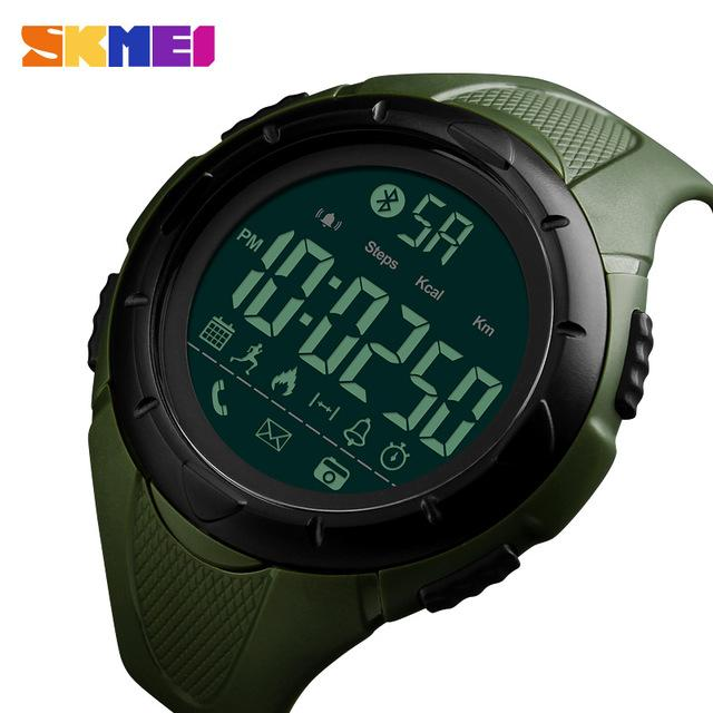 Trendy Sports Smart Wrist Watch SKMEI 1326 Men Multifunction Bluetooth Clock for IOS Android Water Shock Proof Relogio Masculino