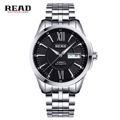 READ Brand Men's Fashion Business Automatic Watches Men Full Steel Waterproof Sport Watch Man Black Clock relogio masculino 8016