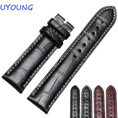 Black Brown Crocodile Leather Watchband18mm 19mm 20mm 21mm 22mm Quality Leather Mens Watch accessories