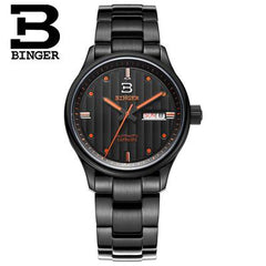 Switzerland watches men luxury brand Wristwatches BINGER business Mechanical clock sapphire full stainless steel B5006-5
