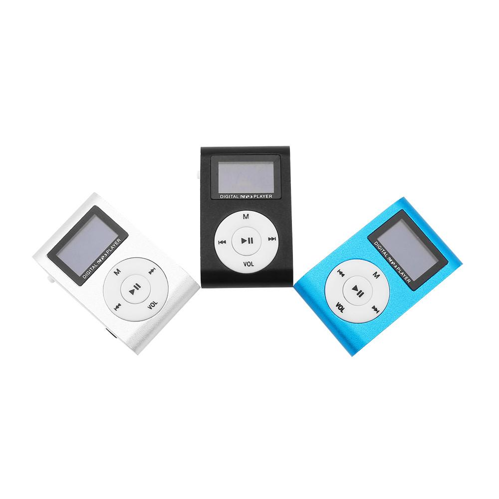Clip Sport MP3 Player with LCD Screen Digital Compact and Portable Mini MP3 Max support 16GB Micro SD Card with Music And Small Body With A Clip