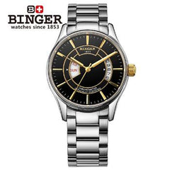 Wrist Watches Male Switzerland Mechanical Men Watch Automatic Binger Luxury Brand Sapphire Japanese Movement Men's Watch B5007