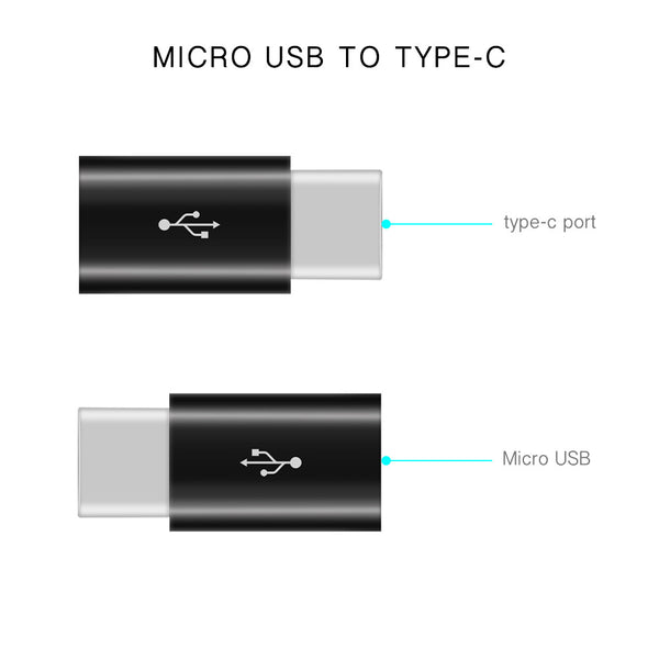 USB Type C Adapter Connector Micro USB Female to USB-C Male USB 3.1 Converter Data Adapter for Samsung Galaxy Note 8 S8 Plus Apple New Macbook Nexus 6P 5X Google Pixel LG G5 G6