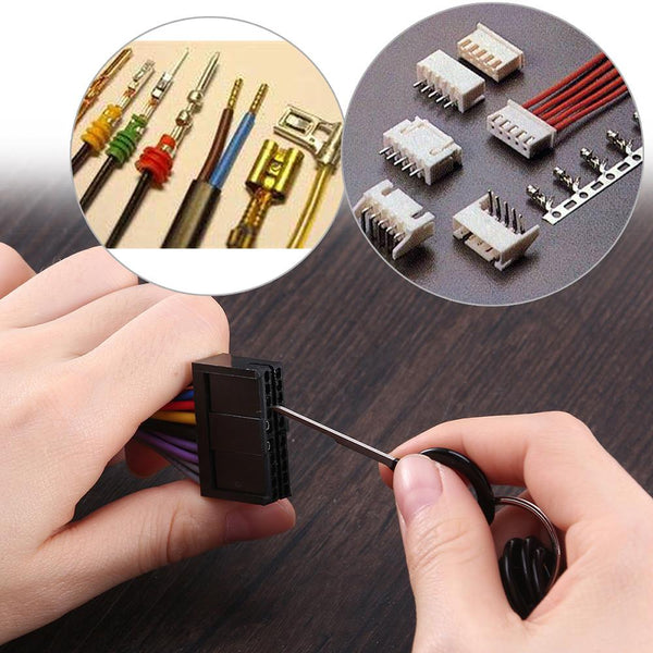 11pcs/set Auto Car Plug Circuit Board Wire Harness Terminal Extractor Pick Connector Crimp Pin Back Needle Removal Tool