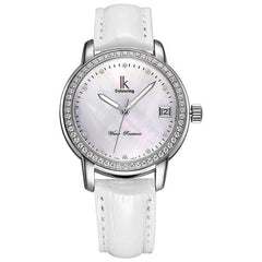 Luxury Rhinestone Silver Waterproof 100M Automatic Watch Women Mechanical Self-winding Watches Woman White Shell Dial Date Clock
