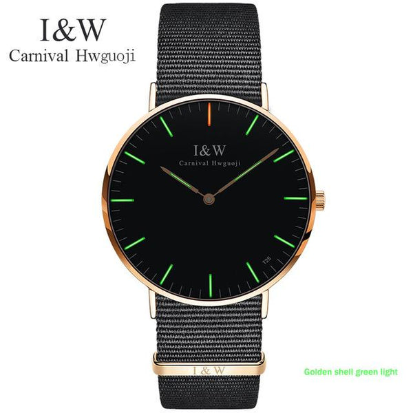 CARNIVAL Women Watches Ladies Watch Chronograph Leather Strap Quartz Date Luminous Hands Waterproof Wristwatch Relogio Feminino