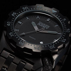 Shark Army Silver Metal Watch Bracelet 100m Water Resistant Swimming Sport Pulseira Masculina Quartz Military Wriswatch / SAW187