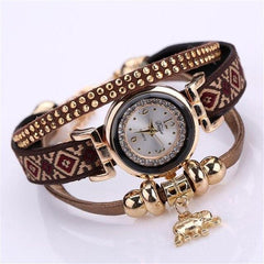Hot Sale Watch Women Feather Weave Wrap Around Bracelet Watch  Crystal Synthetic Fashion Chain Watch relogio feminino