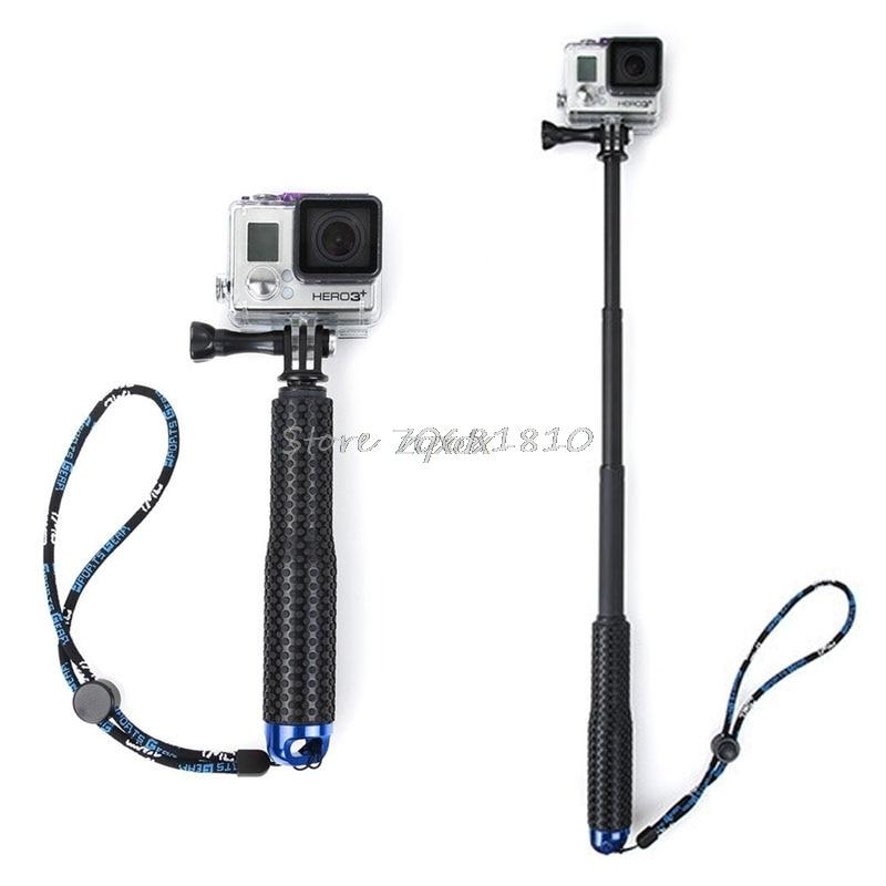 1 Set Extendable Pole Mini Selfie Stick Waterproof Monopod Blue For GoPro Hero 4/3/3+ New Z07 Drop ship
