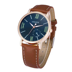 Luxury Fashion Crocodile Faux Leather Mens Analog Watch Wrist Watches  Feature: