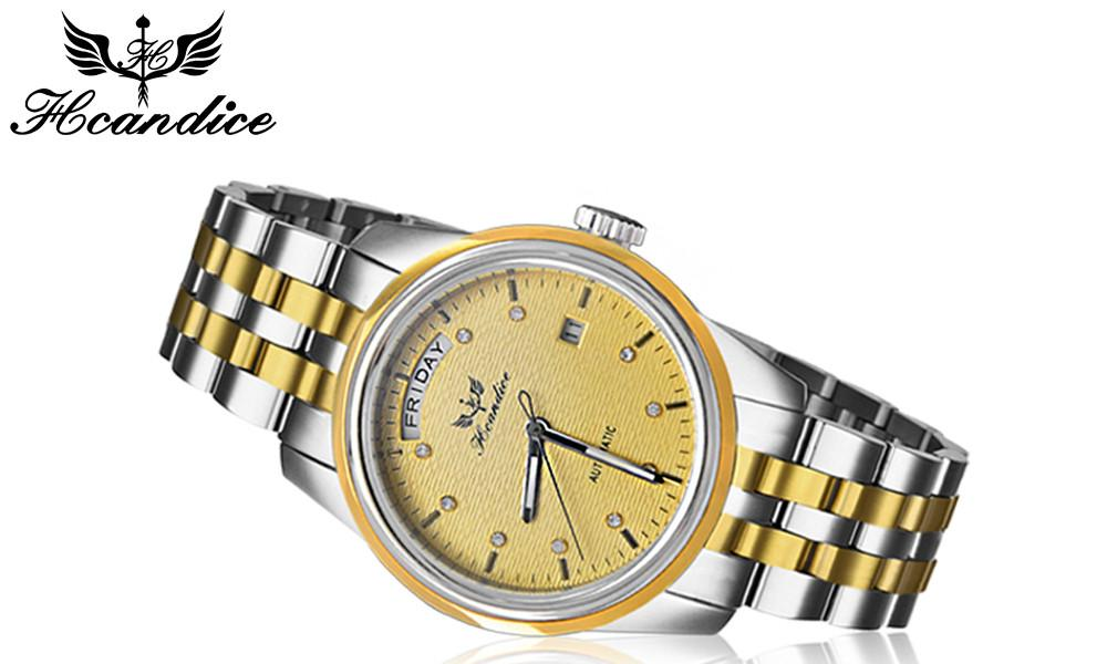 Paradise 2017 Hot 1PC Men's Watch Stainless Steel Band Mechanical Watch Wrist Watch 30m water resistance wholesale  July22