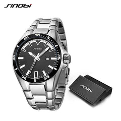 SINOBI Men S Shock Business Watch 2018 Full Steel Male Fashoin Military Wrist Watches Men Luminous Hands Relogio Masculino saat