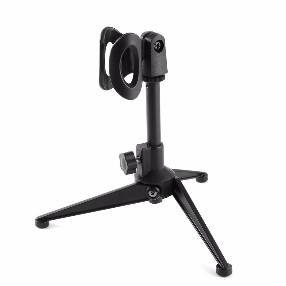 Professional Desktop Microphone Stands Universal Adjustable Elevatable Microphone Holder Mic Tripod Stand Bracket