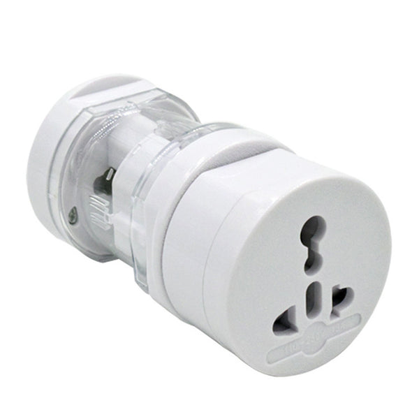 110-250V 10A All-in-one Universal EU/ US/ UK/ AU Plug Travel Adaptor Converter (White)