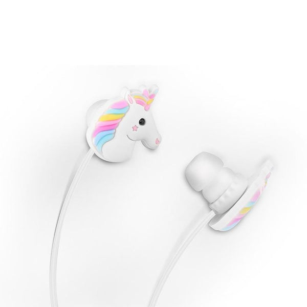 FORNORM Cute Unicorns Cartoon Earphones Colorful Rainbow Horse In-ear Earphone 3.5mm Earbuds With Mic For Samsung Smartphone