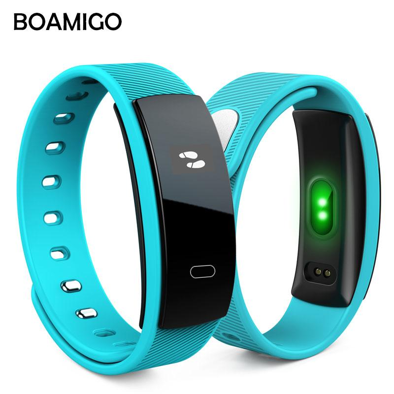 Smart Watches BOAMIGO Unisex Bracelet Wristband Bluetooth Heart Rate Message Reminder Sleep Monitoring For IOS Android phone