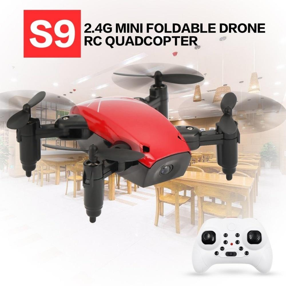 S9 2.4G Mini Foldable Drone RC Drone 360 Degree Flip One-Key Return Headless Mode H/L Speed Switch RC Quadcopter with Light