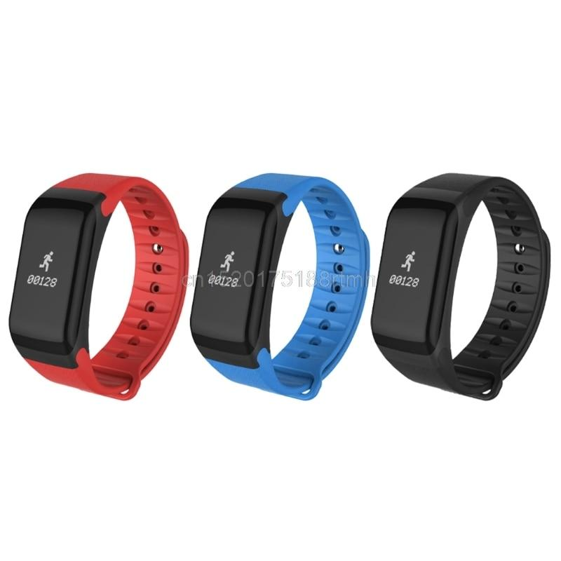 watch band F1 Bluetooth Blood Pressure Heart Rate Monitor Health band Silicone Bracelet Watch band