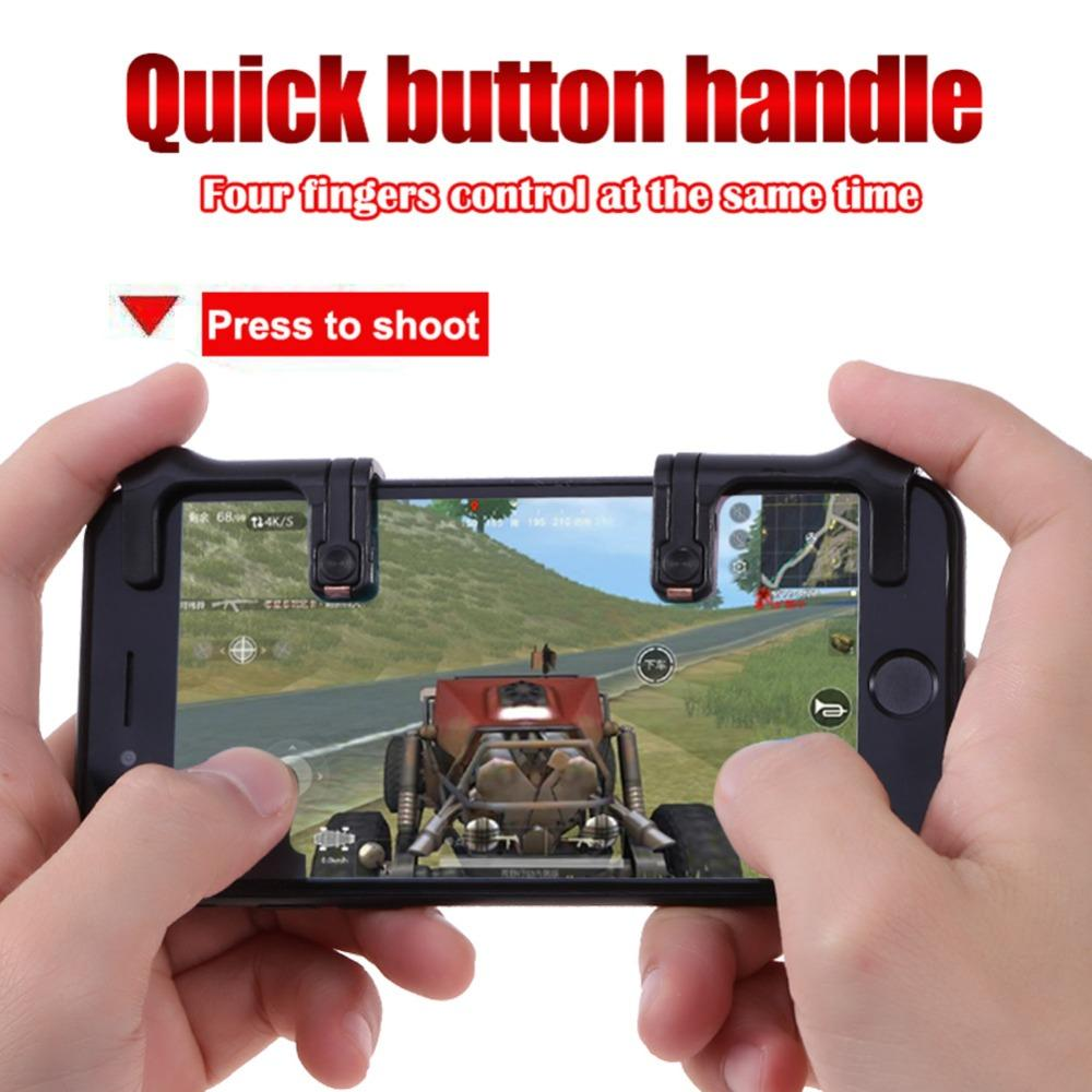 2018 Newst Mobile Phone Game Joysticks Game Controller Touch Screen Joystick Game Shooting Button Assist Tool for STG FPS TPS