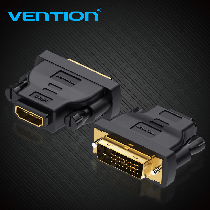 Vention DVI HDMI Adapter DVI to HDMI Converter  24+1 Male to Female 1080P HDTV Connector for PC PS3 Projector TV Box BLUE-RAY
