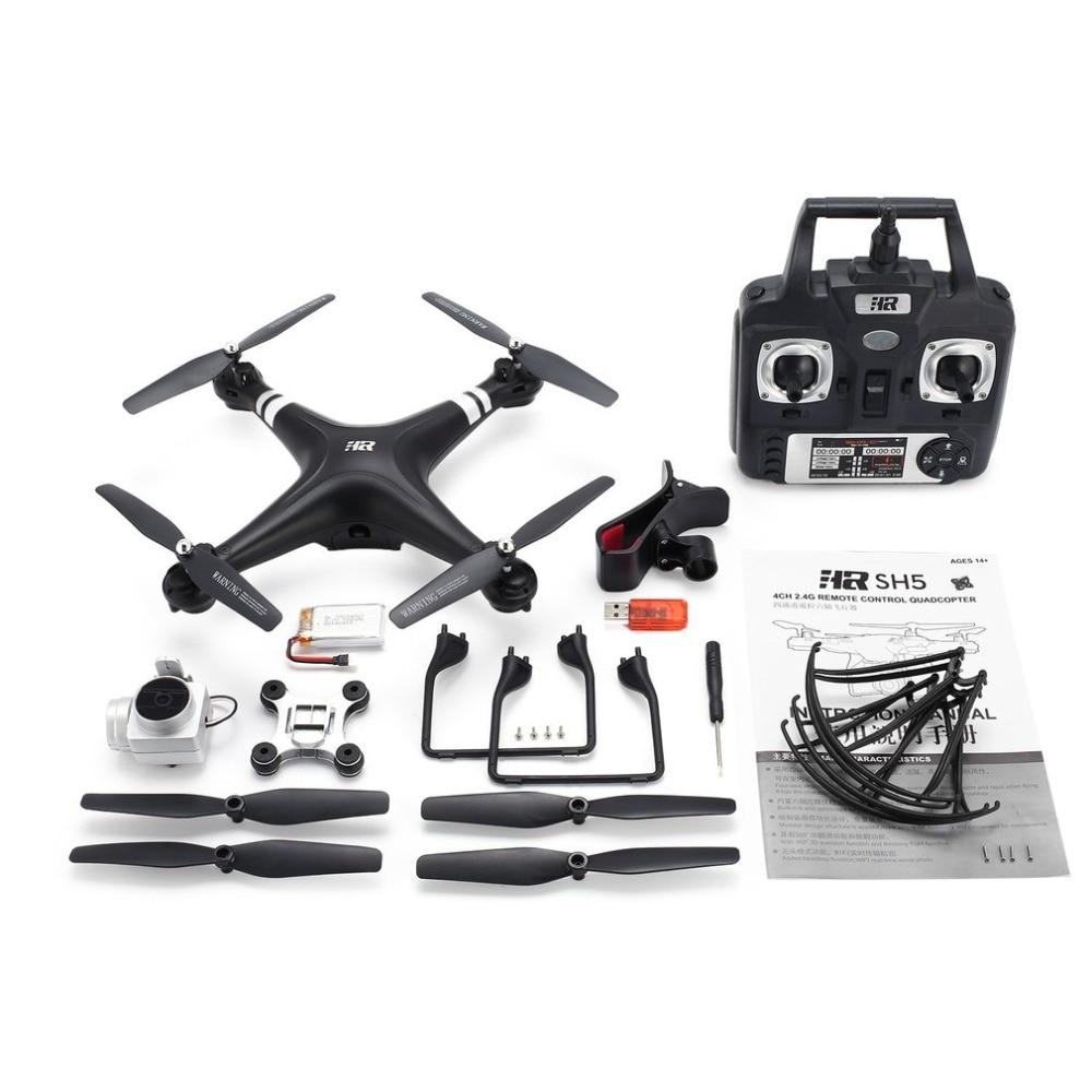 SH5H 2.4G FPV Drone RC Quadcopter with 1080P Wide Angle Wifi HD Camera Live Video Altitude Hold Headless Mode One Key Return