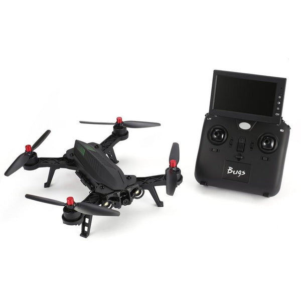 "MJX Bugs 6 B6 2.4GHz 4CH 6 Axis Gyro RTF Drone With HD 720P 5.8G FPV Camera And 4.3"" LCD RX Monitor Brushless RC Quadcopter"