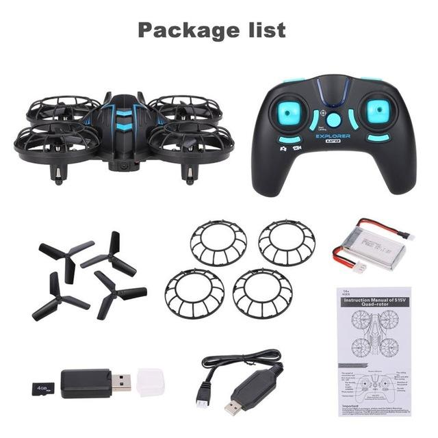 JXD 515V 2.4G 4CH RC Drone Selfie Altitude Hold Headless Mode 6-Axis RC Quadcopter with High Low Speed Switch WIFI FPV Camera