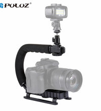 PULUZ U/C Shape Handheld DV Bracket Stabilizer Kit w/ Cold Shoe Tripod Head & Phone Clamp & Quick Release Buckle & Long Screw