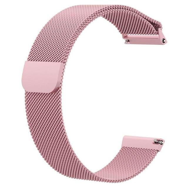 Watch Strap Smart Watch Replacement Band Magnetic Loop Stainless Steel Replacement Band Strap For Fitbit Versa Wristwatch