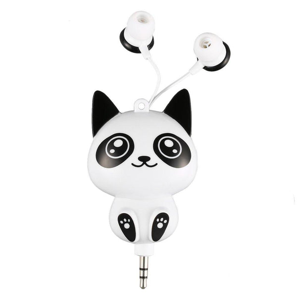 Wired 3.5MM Cute Cartoon Retractable Earphone In-earphone for Mobile Phone MP3 Player