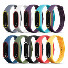1Pcs 220mm Double Color Replacement Smart Bracelet Strap For Xiaomi Mi Band 2 Smart Watch Band Strap Wristband For Miband 2 Hot