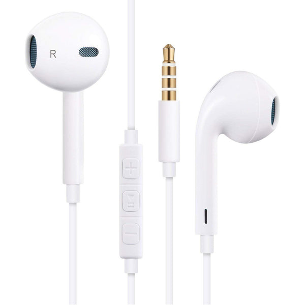 Earphones Headphones Earbuds Headsets with Mic and Remotn-L Control Compatible with iPhone 6/6S/6 Plus/6S Plus/ 5/5C/5S/Se, iPad/iPod