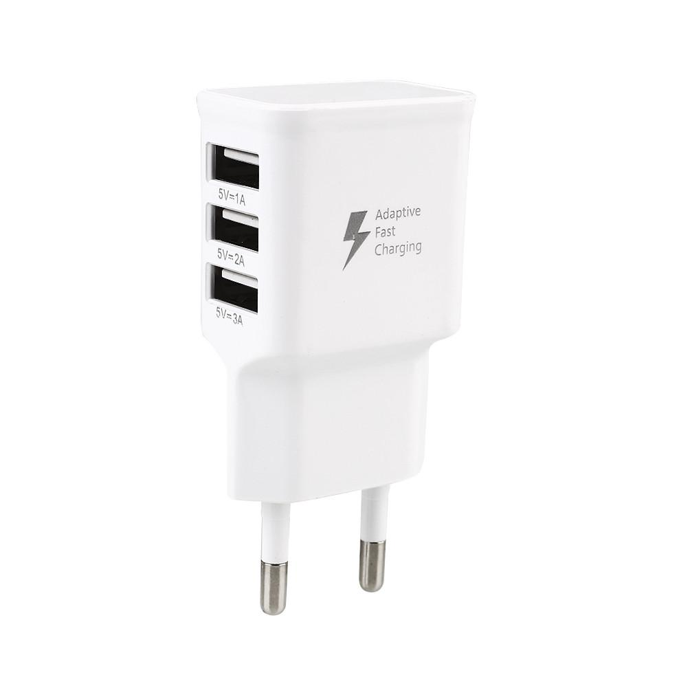 Portable Power Supply Power Adapter 3 USB Charger Wall Charger USB White for Smart Phone Charging Station USB Charger Adapter