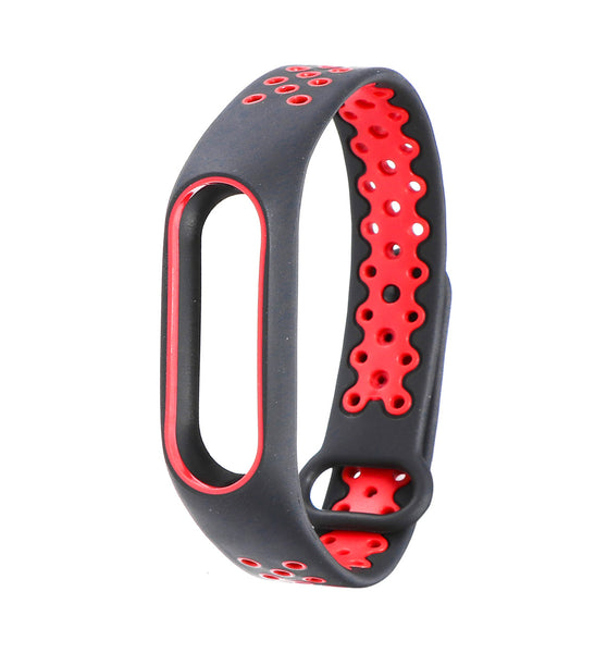 Wristband Protective Shell Cool Replacement Strap Bicolors Anti-lost Breathable Sports Smart Bracelet Accessories for Xiaomi Mi Band 2