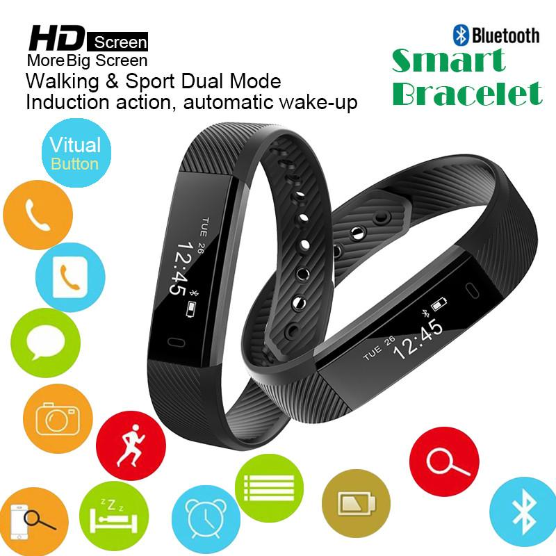 Smart Bracelet Bluetooth Headset Watch Wristband Oled Touchpad Sleep Monitor Heart Rate Band