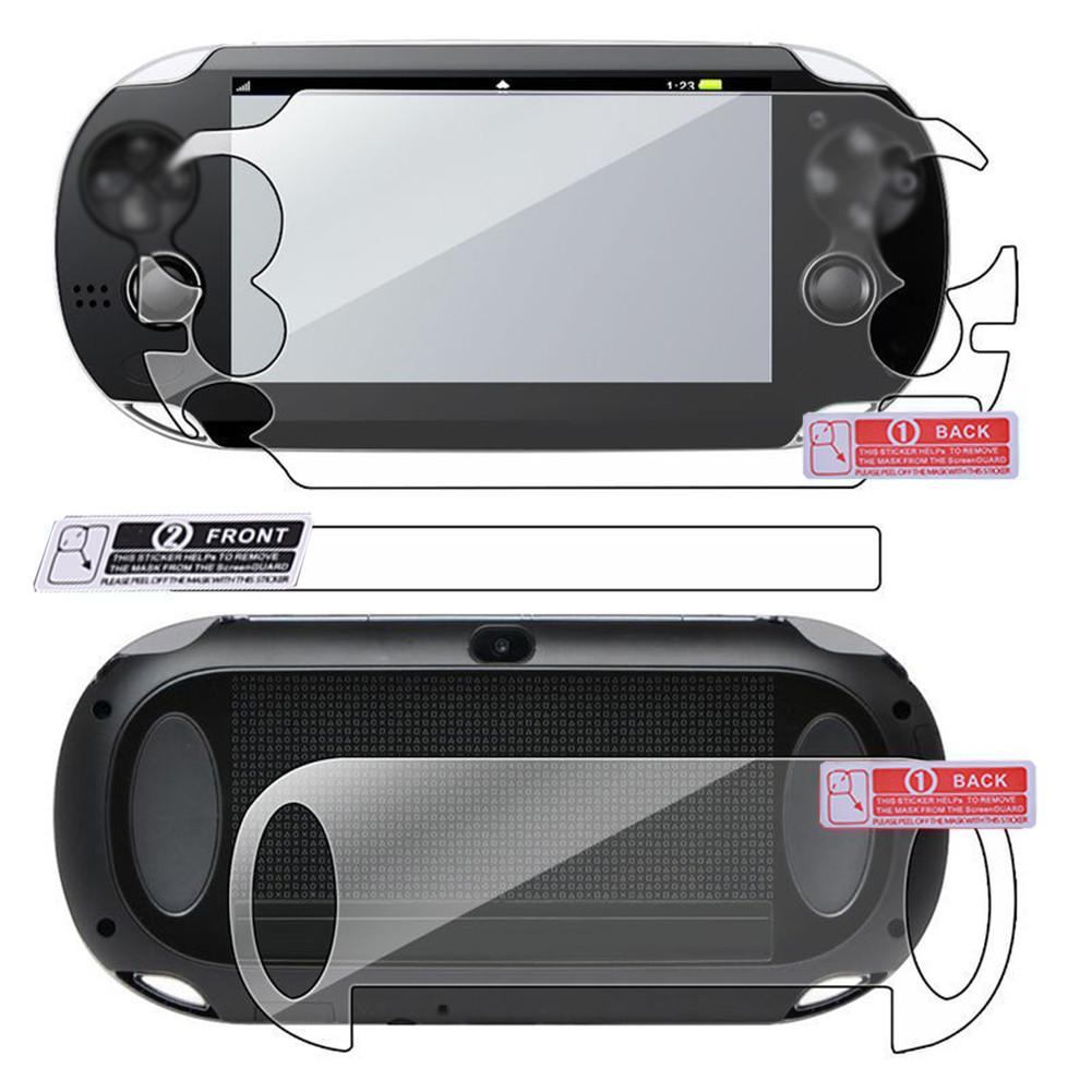HD Screen Protector Film Game Player Screen Protection Pad Front and Back Film for Sony PS Vita PSV