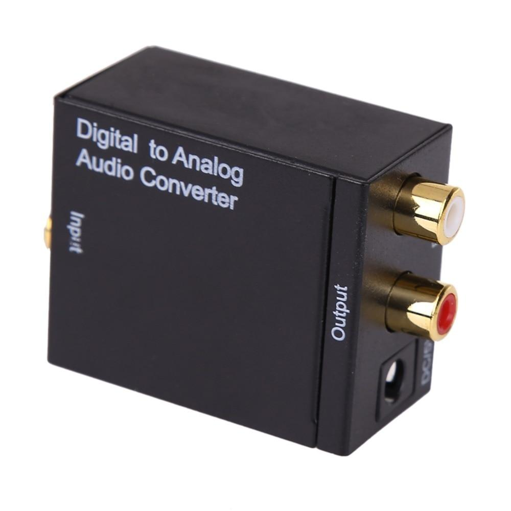 Digital to Analog Audio Converter Adapter Digital Adaptador Optic Coaxial RCA Toslink Signal to Analog Audio Converter RCA