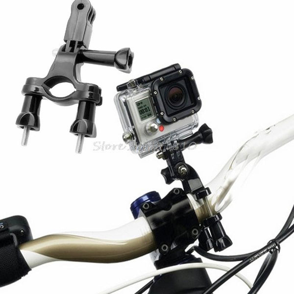 Bike Motorcycle Handlebar Seatpost Pole Mount Holder for GoPro Hero 4/3/3+/2/1 Z17 Drop ship