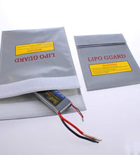 1Pc Silver RC LiPo Battery Safety Bag Safe Guard Charge Sack 180 X230 mm  Free Shipping Wholesale