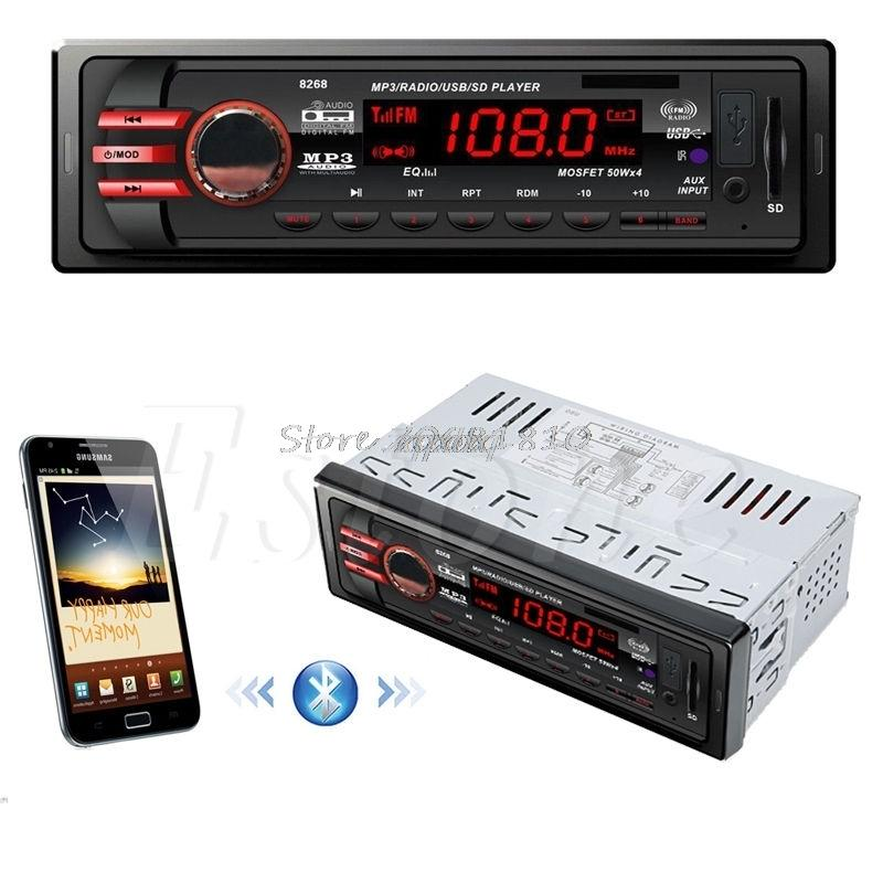 DC 12V Car SD USB 1 DIN Bluetooth Audio Receiver In-Dash FM Aux MP3 Stereo Radio -R179 Drop Shipping