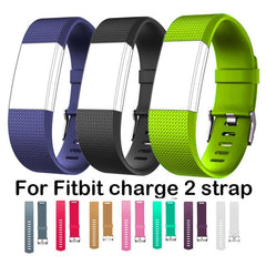 Durable Smart Wrist Band Replacement Parts for Fitbit Charge 2 Strap for Fit bit Charge2 flex wristband Square pattern bracelet