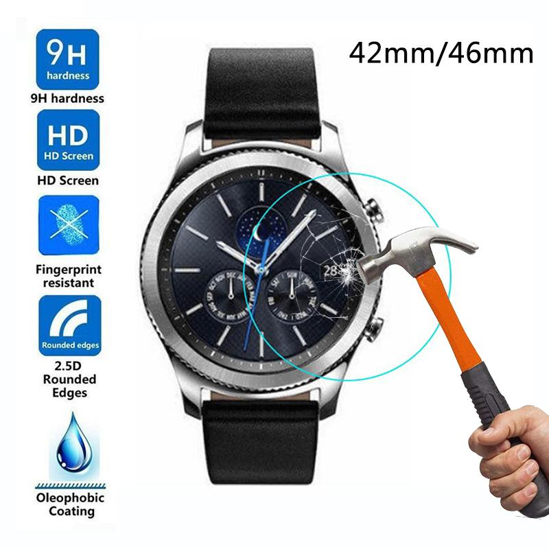 Tempered Glass for Samsung Galaxy Watch 42mm Screen Protector Film for Samsung Watch 46mm bracelet wrist band Protective Glass